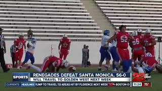 Renegades defeat Santa Monica, 56-0 - Video