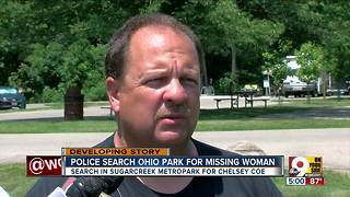 Police search Ohio park for missing woman - Video