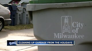 Tips for cleaning up garbage from the holidays