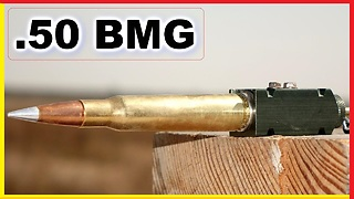 .50 BMG Round set off OUTSIDE a gun - What happens?  - Video