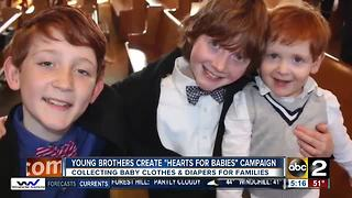 Young boys create campaign to help families with babies in Harford County - Video