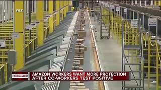 Amazon workers want more protection after co-workers test positive