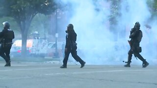 Detroit police move in to break up protesters