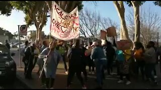 WATCH: Protest as Amahle Quku's alleged murderer appears (QCX)