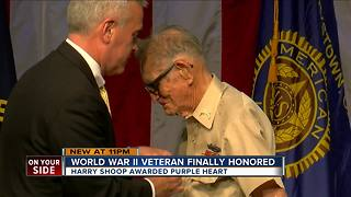 Veteran receives Purple Heart 72 years after his service in World War II - Video