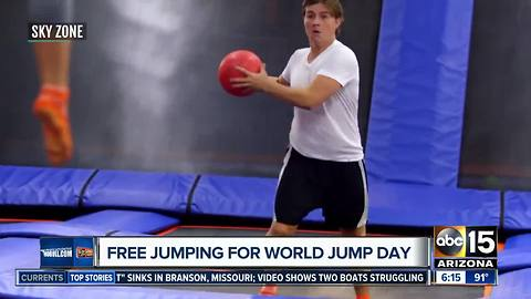 Free jumping for World Jump Day!