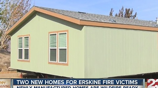 Two new homes for Erskine Fire victims - Video