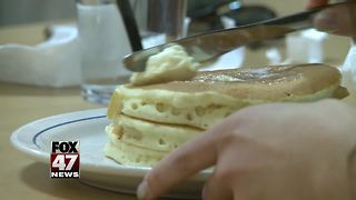 Free pancakes benefit Sparrow Children's Center - Video