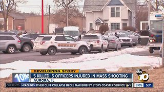 5 killed, 5 officers injured in mass shooting