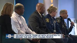Detroit 2020: Sports stars help police and youth build relationships in Detroit - Video