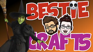 Bestie Crafts - Make an enchanting Halloween decorated Magic Glass Block!