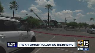 Aftermath of massive north Phoenix Safeway inferno - Video