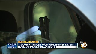 Two guns stolen from Palomar Mountain State Park