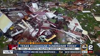 Texas Roadhouse fundraiser for hurricane victims - Video