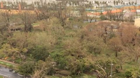 View Over San Juan Bay Shows Hurricane Maria Damage