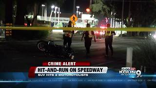 Motorcyclist injured in hit-and-run - Video