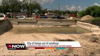 City of Tampa out of sandbags - Video