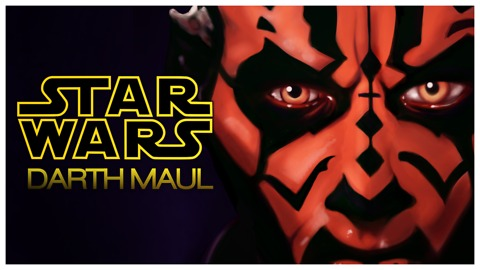 A STAR WARS DRAWING - DARTH MAUL
