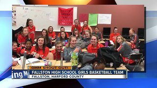 Good morning from the Fallston High School Girls Basketball Team! - Video