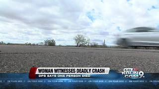 Woman speaks out after seeing a deadly crash up close
