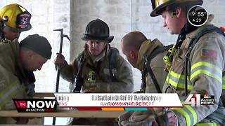 KC area fire departments undergo 'survival training' in Raytown - Video