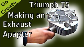1957 Triumph 5T Classic Bike - Making a Stainless Steel Exhaust Adapter