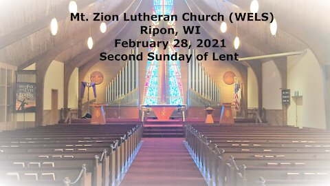 Mt. Zion Lutheran Church, Ripon, WI 2-28-21