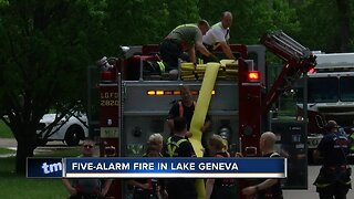 Fire breaks out at Lake Geneva manufacturing plant