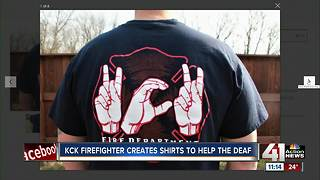 KCKFD firefighter, wife raising money for Deaf International - Video