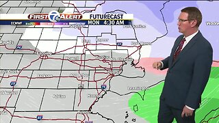 Scattered snow showers tonight