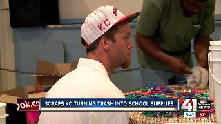 Scraps KC collects 6,000 pounds of used school supplies - Video
