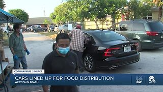 Food distribution in West Palm Beach