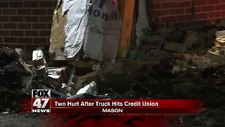 UPDATE - Man hurt after crashing truck into credit union