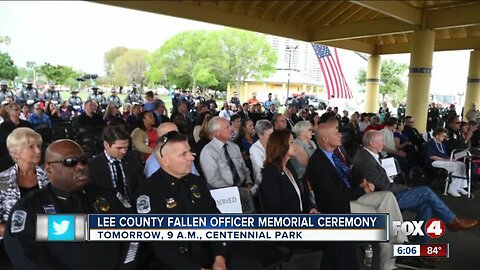Fallen officers memorial to be held in Centennial Park