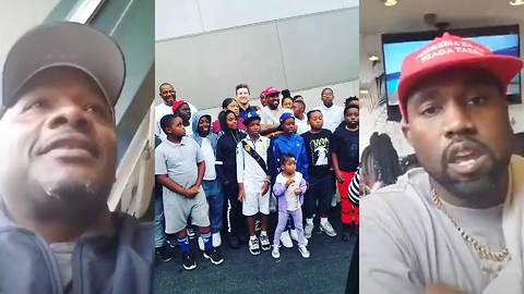 Kanye West Wears MAGA Hat To Meet With L.A. Community Leader Big U About Giving Back