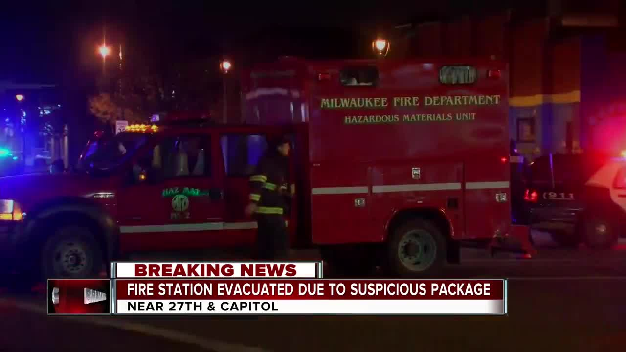 Milwaukee Fire Department station evacuated due to suspicious package