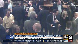 State Senator Kagan accuses lobbyist of inappropriately touching her - Video