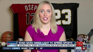 23ABC Sports: KHSD gives approval to prepare for a return of spring sports