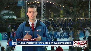 Tulsa Winterfest impacted by warm weather