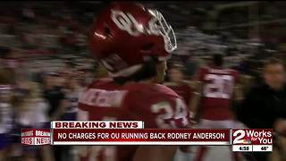 No charges to be filed against Rodney Anderson in sexual assault investigation - Video