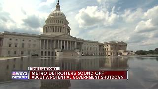 Metro Detroiters sound off about a potential government shutdown - Video