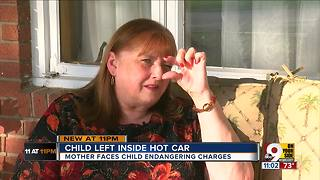 PD: Woman left baby in 105-degree car - Video