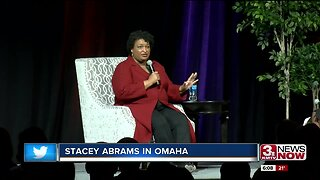 Stacey Abrams speaks at Girls Inc. luncheon