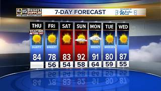 Cold front moving through Valley Thursday