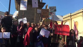 Oxford School Students Take Part in Climate Protest - Video