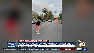 San Diego couple takes on 100 volley challenge