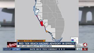 New red tide warning in effect in Lee and Charlotte counties