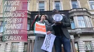 A heartfelt message from the protests against Libya - Video