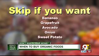 When not to buy organic - Video