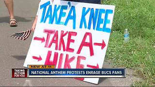 Rally againsts National Anthem protests - Video